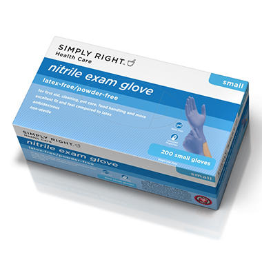 Simply Right Nitrile Gloves - 200 ct. - Small