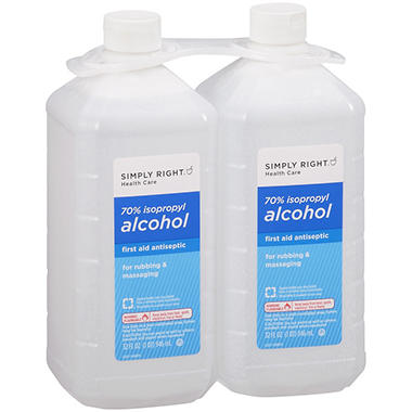 Simply Right? 70% Isopropyl Alcohol - 32 fl. oz. - 2 ct.