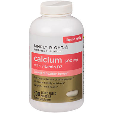 Simply Right™ Calcium w/Vitamin D3 Dietary Supplement - 300 ct.