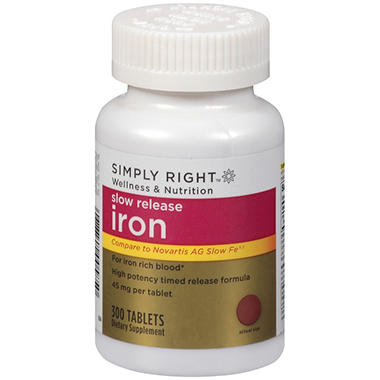 Simply Right™ Slow Release Iron Dietary Supplement - 300 ct.