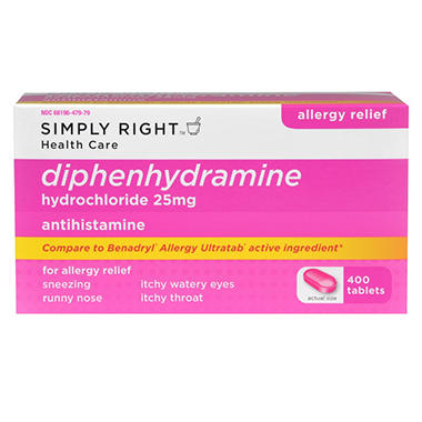 Simply Right Diphenhydramine - 400 ct.