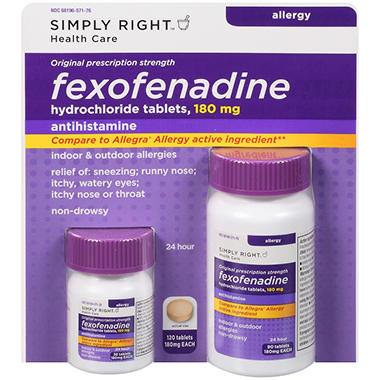 Simply Right? Fexofenadine Hydrochloride Antihistamine - 120 ct.