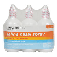 Simply Right Saline Nasal Spray - 3 oz. - 3 ct.