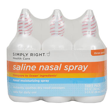 Simply Right Saline Nasal Spray - 3 / 3 oz.