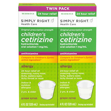 Simply Right Child Cetirizine - 4 oz. - 2 ct.