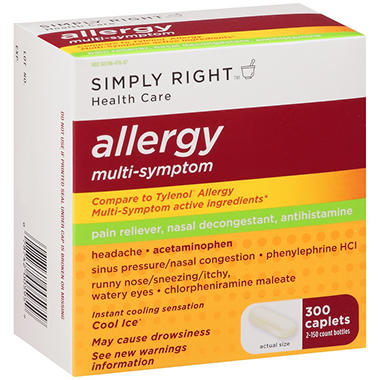 Simply Right? Allergy Multi-Symptom - 2/150 ct.