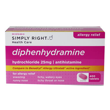 Simply Right Diphenhy Dramine - 400 ct.