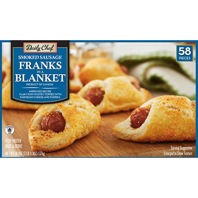 Daily Chef Franks in a Blanket - 58 ct.