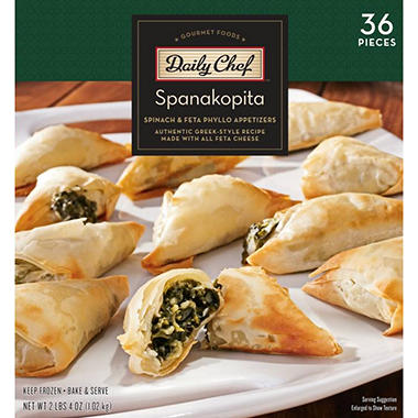 Daily Chef Spanakopita Spinach & Feta Phyllo Appetizers (36 ct.)