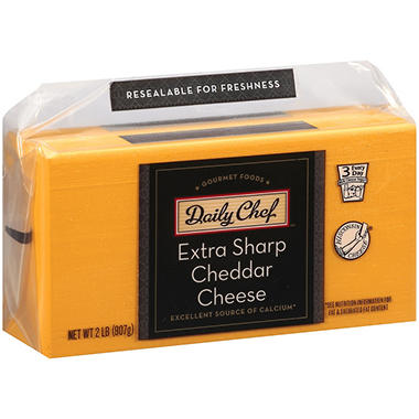 Daily Chef™ Extra Sharp Cheddar Cheese - 2 lb.