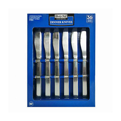 Bakers & Chefs Stainless Steel Dinner Knives Set - 36 pc.