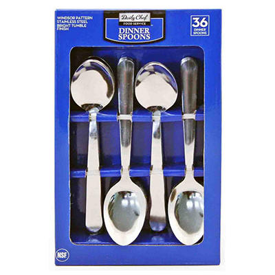 Bakers & Chefs - Oval Soup Spoons - 36 pcs.