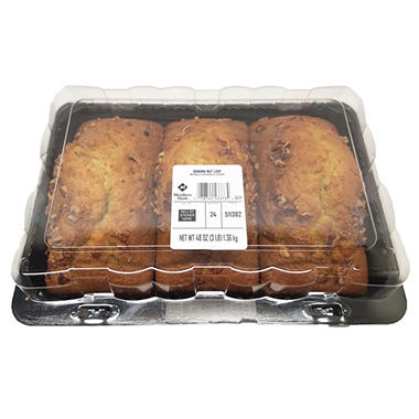 Artisan Fresh Banana Nut Bread Loaf (16 oz., 3 pk.)