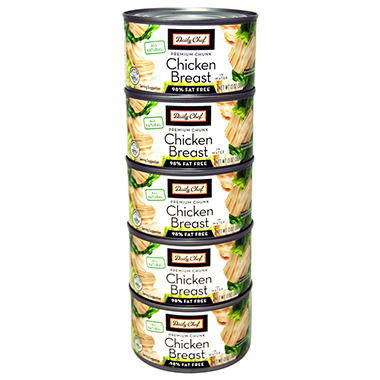 Daily Chef All Natural Chicken Breast - 13 oz. cans - 5 pk.