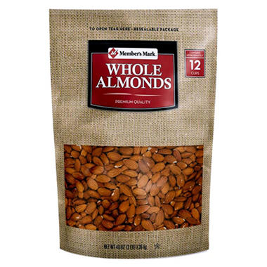 Daily Chef All Natural Whole Almonds - 48 oz.
