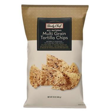 Daily Chef Multigrain Tortilla Chips - 24 oz.