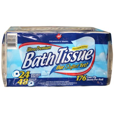 amazing Members Mark Ultra Premium Bath Tissue Part - 16: Members Mark Bath Tissue 24 Roll