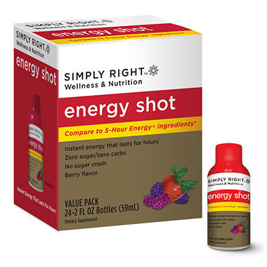 Simply Right Energy Shot - Value Pack - 24 ct.