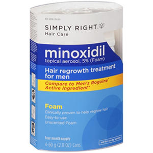 Simply Right™ Minoxidil Foam Hair Regrowth Treatment - 2.11 oz. - 4 ct.