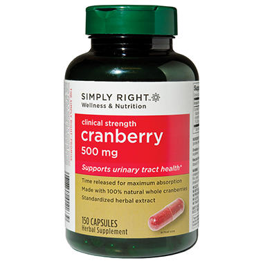 Simply Right Cranberry - 500mg - 150 ct.