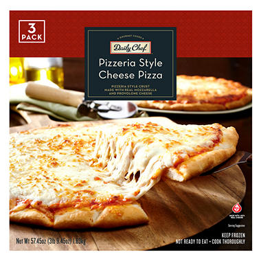 Daily Chef Pizzeria Style Cheese Pizza - 57.45 oz.- 3 pk.