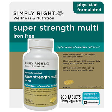 Simply Right Super Strength Multi - 200 ct.
