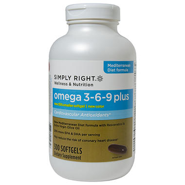Simply Right Omega 3-6-9 Plus - 300 ct.