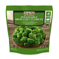 Daily Chef Steamable Broccoli Florets (1 lb. bag, 4 ct.)