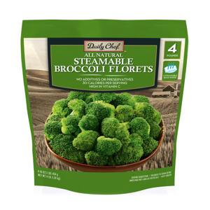 Daily Chef Steamable Broccoli Florets (1 lb. bag, 4 ct.)