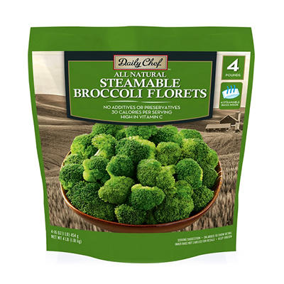 Daily Chef Steamable Broccoli Florets - 16 oz. bags - 4 ct.