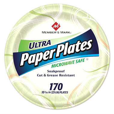 "Member's Mark Ultra Paper Plates, 10 1/16"" (170 ct.)"