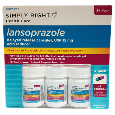 Simply Right Lansoprazole - 42 ct. capsules
