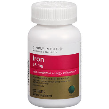 Simply Right Iron Dietary Supplement (300 ct.)