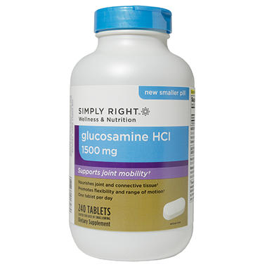 Simply Right Glucosamine HCl 1500mg - 240 ct.