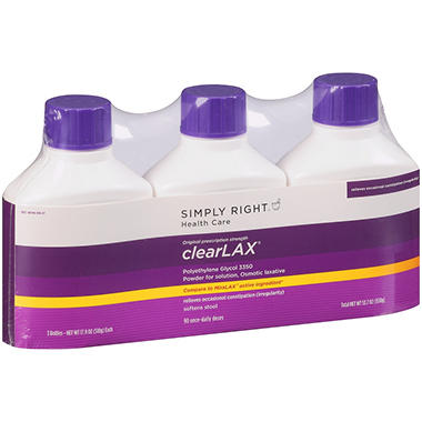 Simply Right ClearLAX - 17.9 oz. bottles - 3 pk.