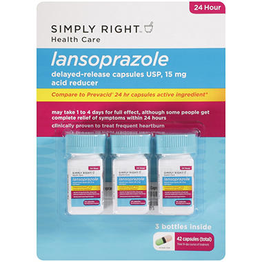 Simply Right Lansoprazole Acid Reducer - 15mg - 42 ct.