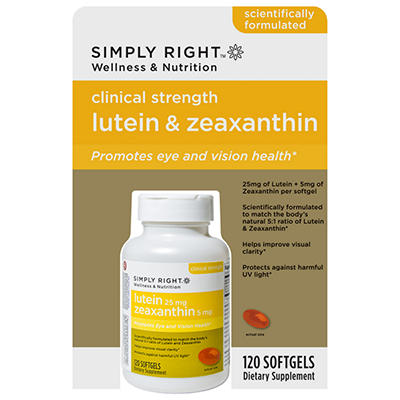 Simply Right Lutein 25mg & Zeaxanthin 5mg - 120 ct. softgels