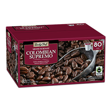 Daily Chef Colombian Supremo Coffee, Single Serve (80 ct.)