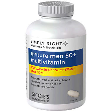 Simply Right Mature Men 50+ Multivitamin - 250 ct.