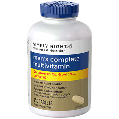 Simply Right Men's Complete Multivitamin - 250 ct.