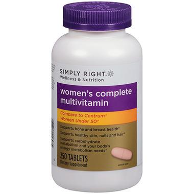 Simply Right™ Women's Complete Multivitamin - 250 ct.