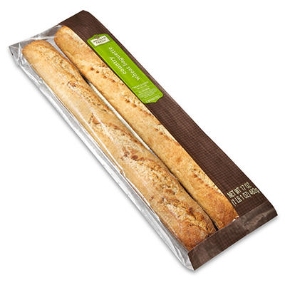 Artisan Fresh Country Wheat Baguette - 2 pk. - Case of 12
