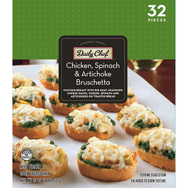 Daily Chef Chicken, Spinach & Artichoke Bruschetta - 32 oz.