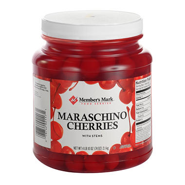 Daily Chef Maraschino Cherries with Stems - 74 oz.