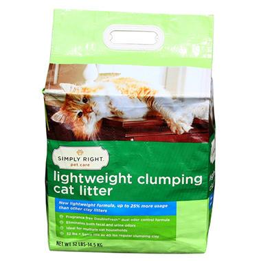 Simply Right Lightweight Clumping Cat Litter - 32 lbs.