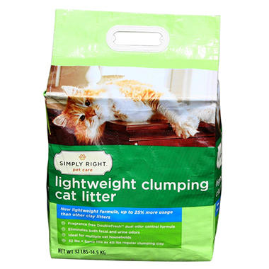 Simply Right Lightweight Clumping Cat Litter - 32 lbs.