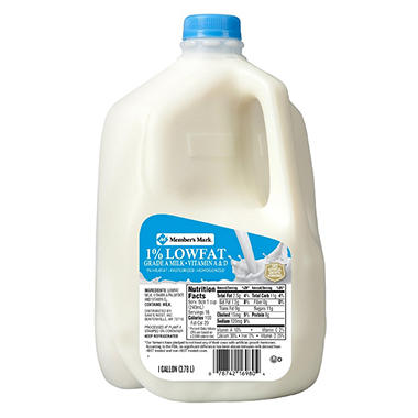 Member S Mark 1 Lowfat Milk 1 Gal Sam S Club