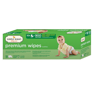 Simply Right Premium Wipes, 900 ct.