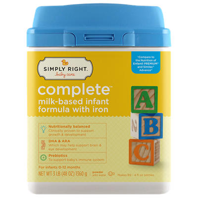 Simply Right - Complete Infant Formula, 48 oz. - 1 pk.
