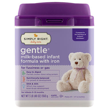Simply Right - Gentle Infant Formula, 48 oz. - 1 pk.
